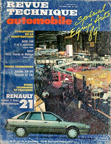 REVUE TECHNIQUE AUTOMOBILE N° 508 RENAULT 21 TI / RX / GTX / TXI / 2 LITRES / BERLINE ET NEVADA par E.T.A.I.