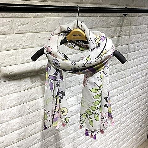 LFNRR fashion Floral organza shawl in Bali tourist seaside scarf women 180*100cm,180*100cm