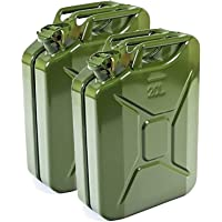 Jerry Can 2 X 20L Metal - for Petrol and Diesel - UN-Approved - TÜV Rheinland Certified - Type Inspected - Green