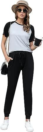 Doaraha Women Tracksuits Jogging Suit 2 Piece Full Zip Sweatshirt and Bottom Casual Loungewear Sportwear Outfits
