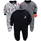 EIO® Kidi Wav 100% Cotton Sleep Suit/Onesies/Rompers/Jumpsuit for New Born Boys and Girls Combo Pack