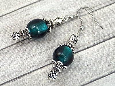 Boucles d'oreilles Thurcolas de la gamme Venezia en perles de verre de Murano vert