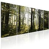 murando - Bilder Wald 200x80 cm Vlies Leinwandbild 5 TLG Kunstdruck modern Wandbilder XXL Wanddekoration Design Wand Bild - Waldlandschaft Natur Panorama Baum c-B-0288-b-m