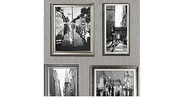 Muriva 701339 6 City Cadres Papier Peint Rouleaux-Argent