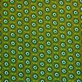 MAGAM-Stoffe Blümchen Emily grün Baumwollstoff Meterware
