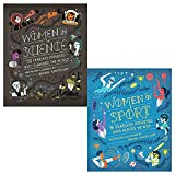 Women in science and women in sport 2 books collection set by rachel ignotofsky