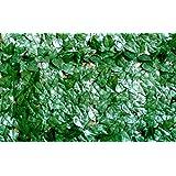 Siepe sintetica copertura giardino finte foglie di lauro 1x20 mt