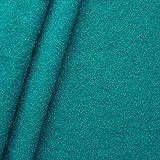 STOFFKONTOR 100% Wolle Walkloden Stoff Meterware Petrol