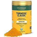 VAHDAM, Orgánico Cúrcuma Latte Clásico, 40 tazas (100g) | Golden Milk Powder Con Potente Curcumina | Latte De Cúrcuma | Té De