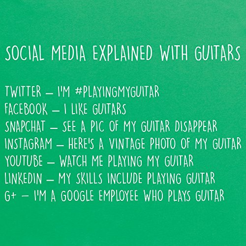 Social Media Explained With Guitars T-Shirt, Herren Keltisch-Grn