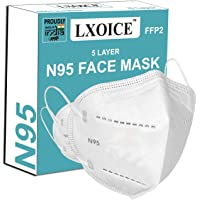 LXOICE Non-Woven Fabric Reuseable N95 Face Mask (Without Valve, Pack of 10) for Unisex