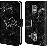Official NFL Marble 2017/18 Detroit Lions Leather Book Wallet Case Cover For Samsung Galaxy S5 mini