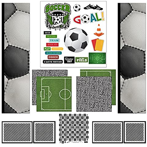 Scrapbook Customs Themed Paper Scrapbook Kit, Soccer Sport Paper