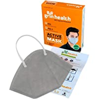 Grin Health 4 Layer Protective Filters Washable Reusable (Grey: Pack of 1)