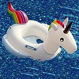APig Flotador unicornio con apoyabrazos y asiento para niños de 1-6 años( menos de 25 kilos),dimension interior 30 cm, dimension exterior 70cm