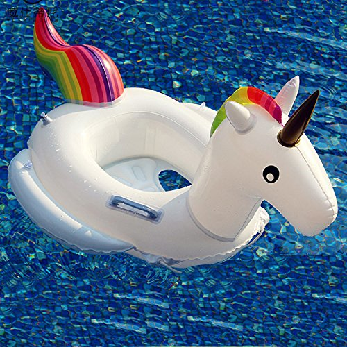 """APig Einhorn Kinder Schwimmen Ring Aufblasbarer Schwimmer Sitz, Innendurchmesser 11.8"""" Aussen Durchmesser 28"""", Fit für 1-6 Jahre Alte Kinder, mit einem Gewicht von bis zu 25 kg"""