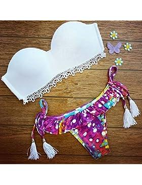 Conjuntos de Bikini Sexy traje de baño Trajes de Baño Split-Trend adelgazamiento Fashion dividido en dos piezas,S
