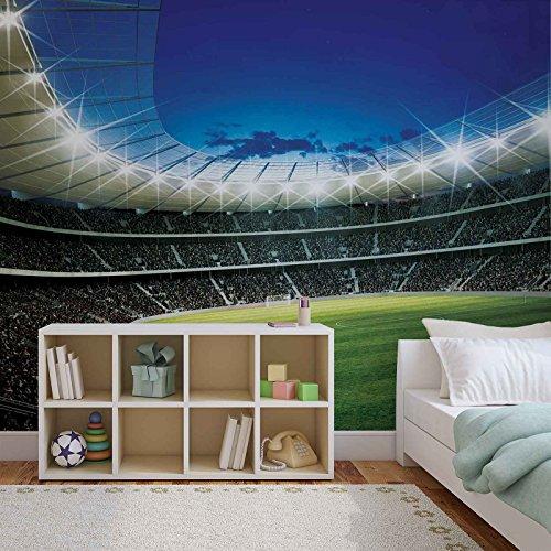 Preisvergleich Produktbild Fußball Stadion Sport- Forwall - Fototapete - Tapete - Fotomural - Mural Wandbild - (323WM) - XXL - 368cm x 254cm - Papier (KEIN VLIES) - 4 Pieces