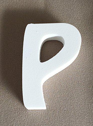 """Preisvergleich Produktbild Buchstabe """"P"""" für Zimmertür in weiß -Dekoration - Dekoartikel"""