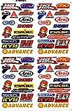 Patrocinador Tuning Racing Motocross Adhesivo decorativo 27 x 18 cm, diseño de hoja