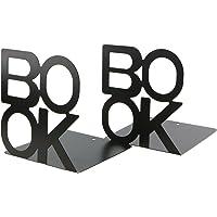 Prettyui Serre-livres inscription Book - En métal - Motif lettres - Simple - Organisateur de livres pour bureau, espace…