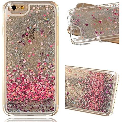 Beiuns custodia rigida Glitter fluente Liquido hardcase per Apple iPhone 4 4G 4S cellulari in plastica dura - WM518 amore cuori
