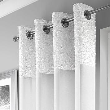 Wonderful Mirabel   Elegante Gardine Mit Ösen   Crincle Optik   Transparent   1 Schal    Weiß   140 X 137 Cm B X L: Amazon.de: Küche U0026 Haushalt Home Design Ideas