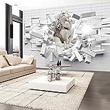 murando – Papier peint intissé – 200x140 cm – Papier peint – Trompe l oeil - Tableaux muraux – Déco – XXL– Ange Brique Texture h-C-0008-a-a