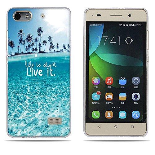 DIKAS Handyhülle für Huawei Honor 4C, Hülle für Huawei G Play Mini, TPU Softcase Silikon Tasche Anti-Scratch Telefon-Kasten Handyhülle Handycover für Huawei Honor 4C / Huawei G Play Mini- Pic: 05