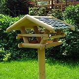 Vogelhaus Vogelfutterstation mit Ständer, Solar Led Beleuchtung
