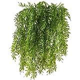 HUAESIN 2 Pcs reben künstlich kunstpflanzen hängend hängepflanzen künstliche grünpflanze plastikpflanzen künstliche pflanzen für draussen balkon topf Hochzeit garten deko