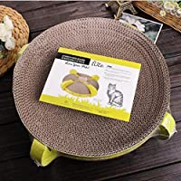 Payonr Home Helper Cat Scratching Board Round Corrugated Scratching Bed Cat toy Grinding Claw Board 35 * 35 * 10 cm