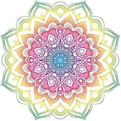 Colorido diseño de Mandala - Pegatina para Ordenador portátil, Coche, Nevera, Arte de Pared