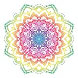 Colourful Mandala Design Sticker   Laptop, Car, Fridge, Wall Art Decal