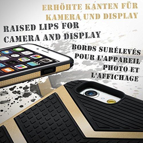 iPhone 7 Plus Hülle OneFlow [Glory Case] Silikon Soft TPU Schutzhülle Back Cover [Erweiterter Kantenschutz] Bumper Handyhülle - Gold HONOR