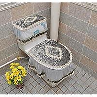 MEI Alfombrillas Alfombrillas antideslizantes Cremallera de tres piezas para baño Conjunto de tres asientos de inodoro Asientos de inodoro Cubierta del depósito de agua Tapa del inodoro Asiento de inodoro ( Color : C )