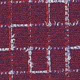 Linton Tweed Check Strukturierter Stoff | Rot, blau und