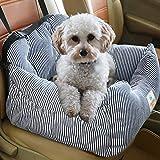 FRISTONE Hunde Autositz, Waschbar Rutschfeste Autositze für Hund Abnehmbare Abdeckung und Hundekissen SUV Rot Blau Braun