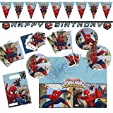 Procos 10108574B - Set di accessori per feste dei bambini, motivo Ultimate Spiderman - Web Warriors, misura XL, 72 pz