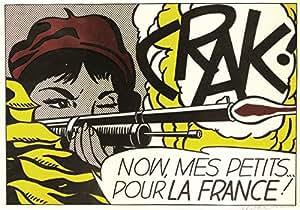 Roy Lichtenstein, titulo: Crack (1963–64), lithographie de moderne tecnique 65x 50Cmts. Papier BFK RIVES (filigrane) Edition 100numered Crayon Signé pr.???/100