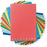 Pigna Monochrome Cahier 80gr.lot de 10 cahiers