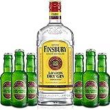 Gin Tonic Set - Finsbury London Dry Gin 70cl (37,5% Vol) + 6x Fentimans Herbal Tonic Water 200ml