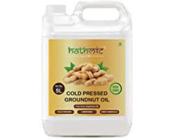 Hathmic Cold Pressed Groundnut Oil, 5L HDPE (Un Refined and Un Filtered Pure Oil)