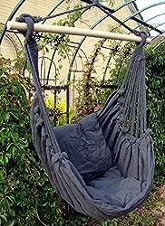 """Hängesessel """"Lucky"""", Sitzschaukel, Gartensessel zum Aufhängen, anthrazit"""