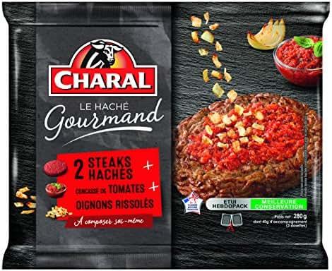 Charal Steaks Hachés Concassé de Tomates/Oignons Rissolés 160 g