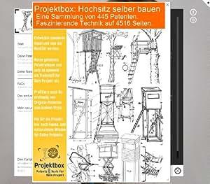 hochsitz selber bauen deine projektbox inkl 445 original patenten bringt dich mit spa ans. Black Bedroom Furniture Sets. Home Design Ideas