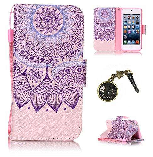 PU Silikon Schutzhülle Handyhülle Painted pc case cover hülle Handy-Fall-Haut Shell Abdeckungen für Apple iPod Touch 5 / Touch 6+Staubstecker (9OO)