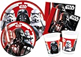 "'Ciao y4491 Kit Party Tabla Star Wars ""Final Battle para 24 Personas, Negro/Blanco"