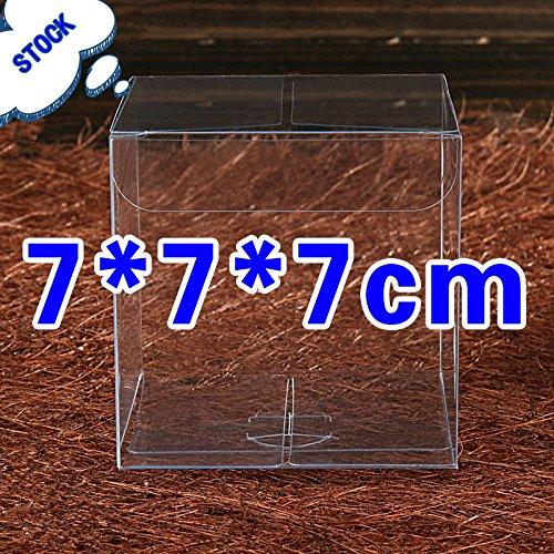 50 PZ Scatola PVC trasparente VARIA MISURA Portaconfetti BOMBONIERA Confezione Regalo (7*7*7cm)
