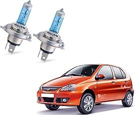 Auto Pearl Halonix H4 Ultra High Beam Halogen Head Lamp Bulb for Tata Indica Xeta (Set of 2)
